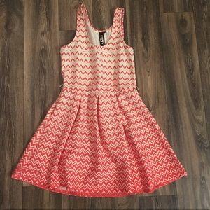 🎈Trixxi Fit & Flare Chevron Dress